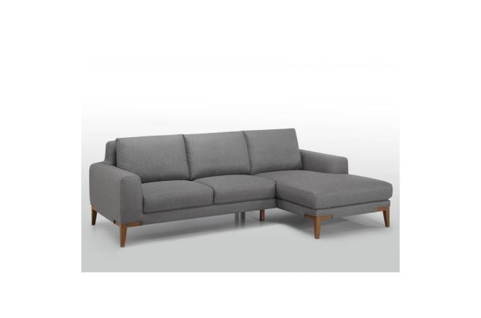 canap d 39 angle gauche pieds en ch ne lito design pas cher sur sofactory. Black Bedroom Furniture Sets. Home Design Ideas
