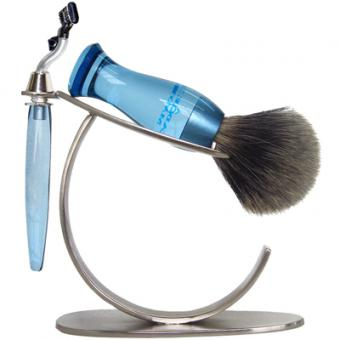 SET RASAGE 3 PIECES BLEU STAND O E Shave