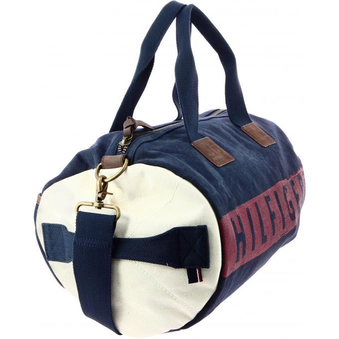 sac de voyage imprime toile tommy hilfiger maroquinerie sac de voyage homme. Black Bedroom Furniture Sets. Home Design Ideas