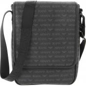 Armani Jeans - Sac Reporter Logoté - Maroquinerie armani homme