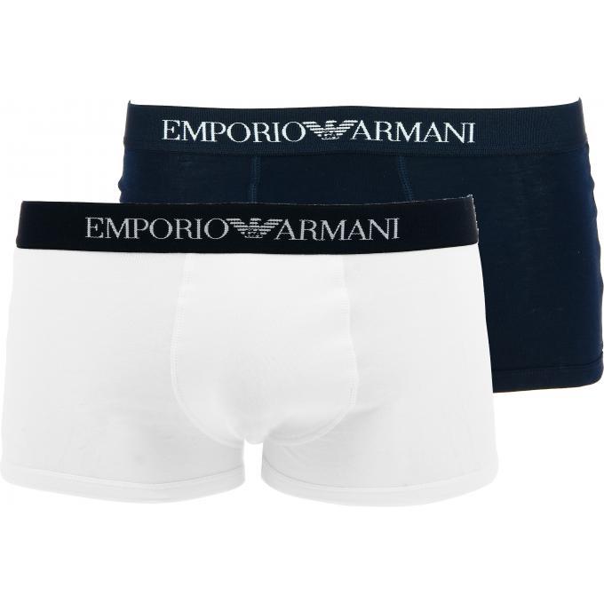 Hommes Pack 2 Boxers Emporio Armani - Ceinture Sigl