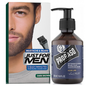 Just For Men - PACK COLORATION BARBE Châtain Foncé & Shampoing à Barbe 200ml Azur Lime - Entretenir sa barbe