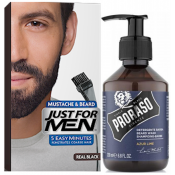 Just For Men - COLORATION BARBE Noir Naturel & Shampoing à Barbe 200ml Azur Lime - Entretenir sa barbe
