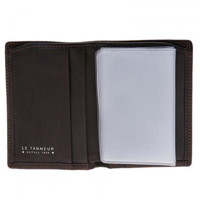 Porte cartes billets en cuir touraine casual chic le for Porte carte le tanneur