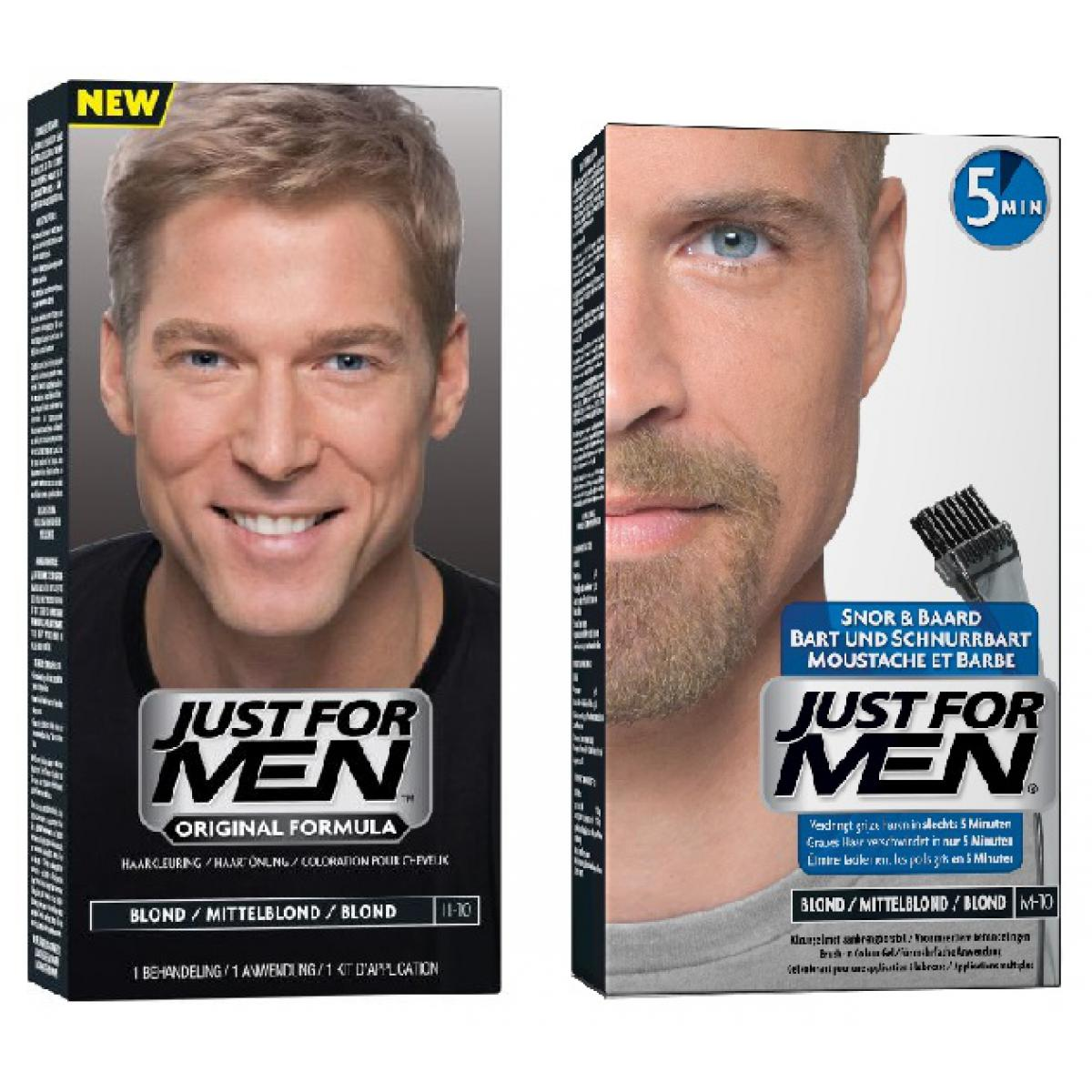 DUO COLORATION CHEVEUX & BARBE Blond Just for Men