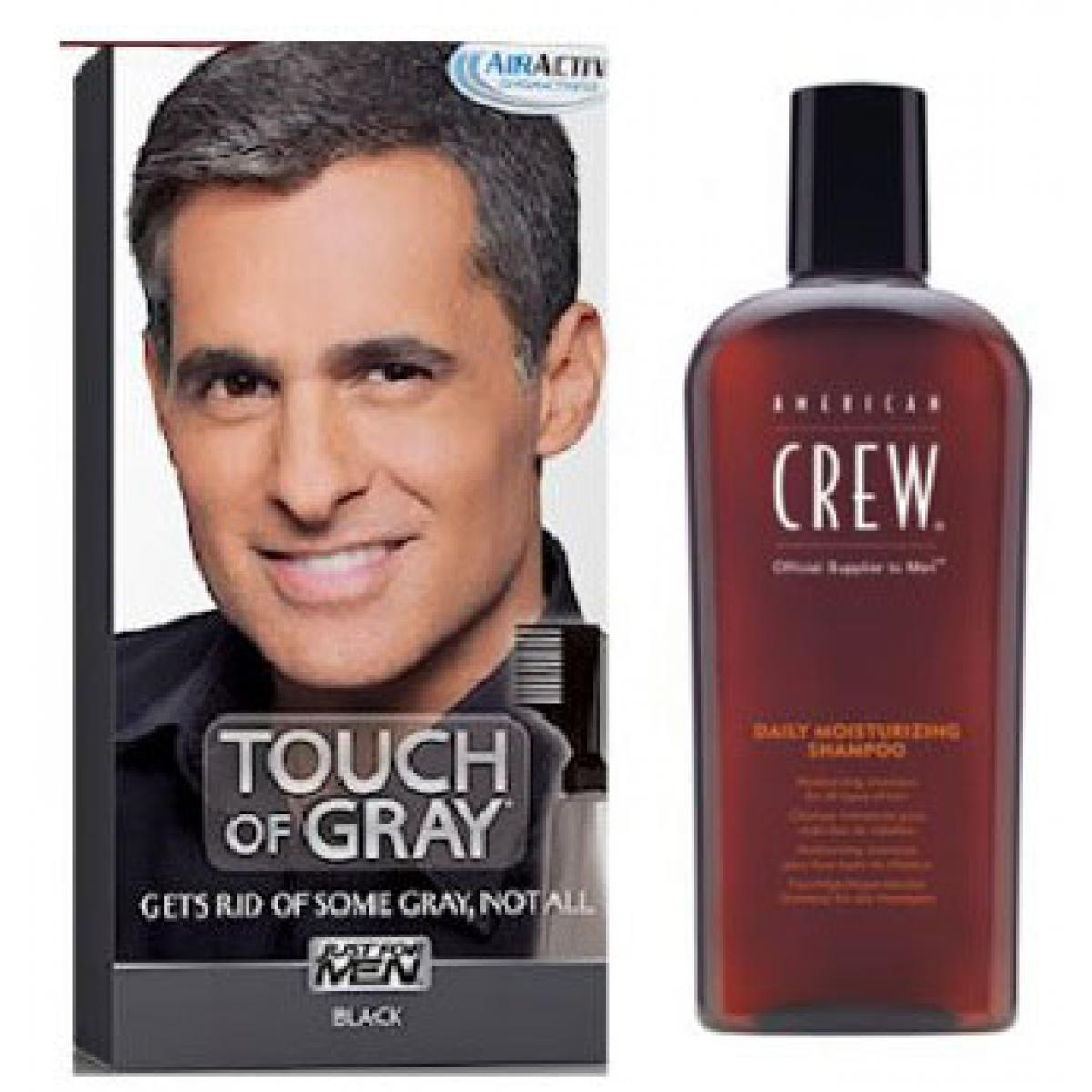 Coloration Cheveux Shampoing Gris Noir Pack Just For Men