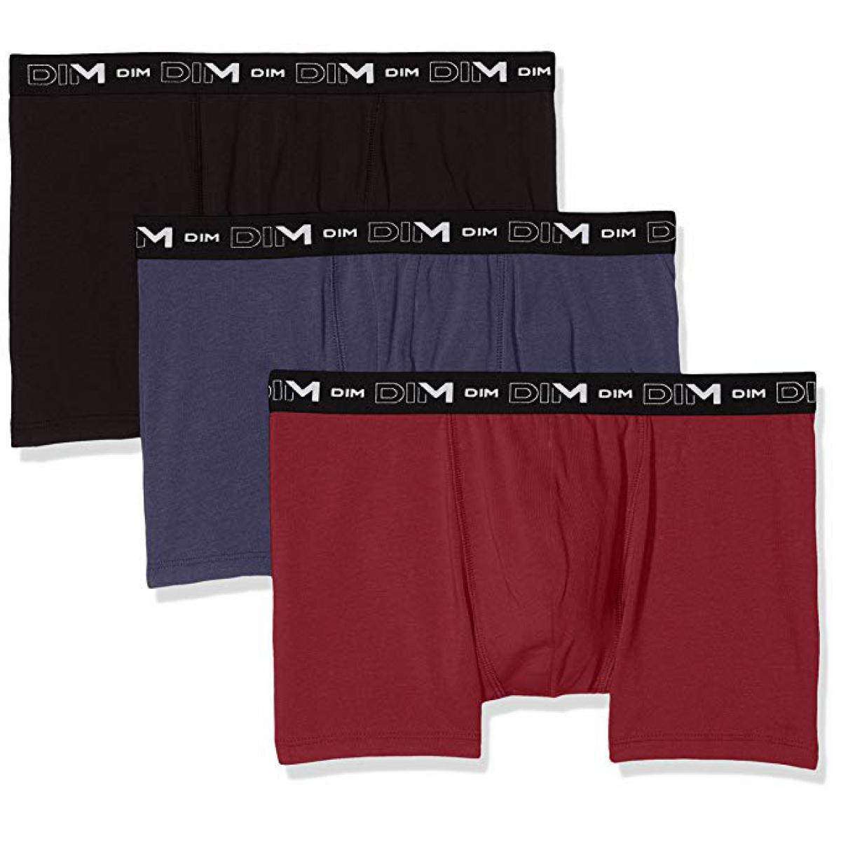 Pack de 3 Boxers Coton Stretch Dim
