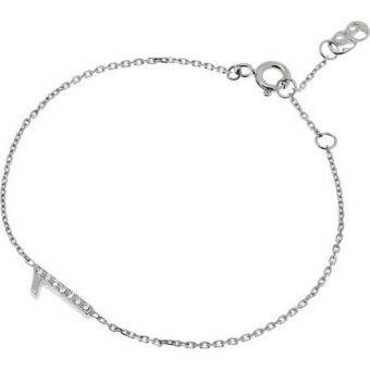 Bracelet Shiny Number 1 or blanc diamants - Second Effect
