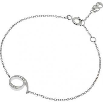 Bracelet Shiny Number 9 or blanc diamants - Second Effect
