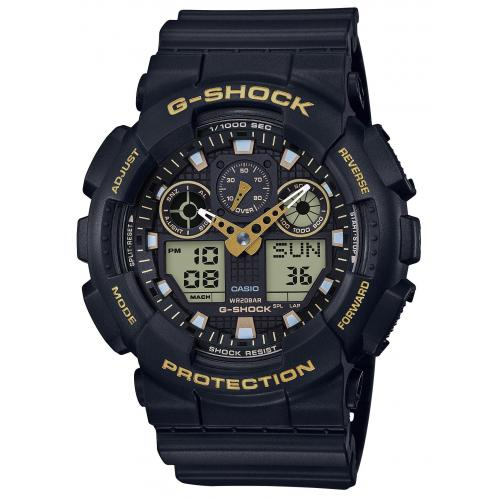 Montre Mixte GA-100GBX-1A9ER Casio G-Shock Black & Gold