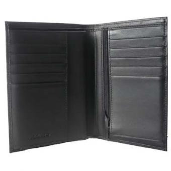 Azzaro Maroquinerie - homme PORTEFEUILLE 4 VOLETS VERTICAL - Cuir Noir - Azzaro Maroquinerie