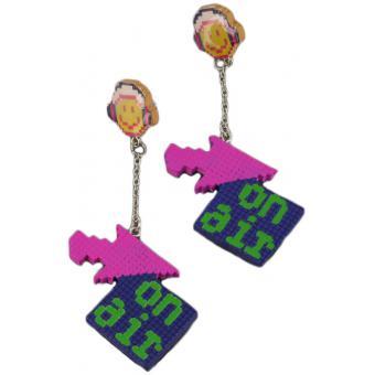 Boucles d'oreilles Smiley Pixel air - N2