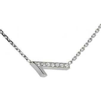 Collier Shiny Number 1 or blanc diamants - Second Effect