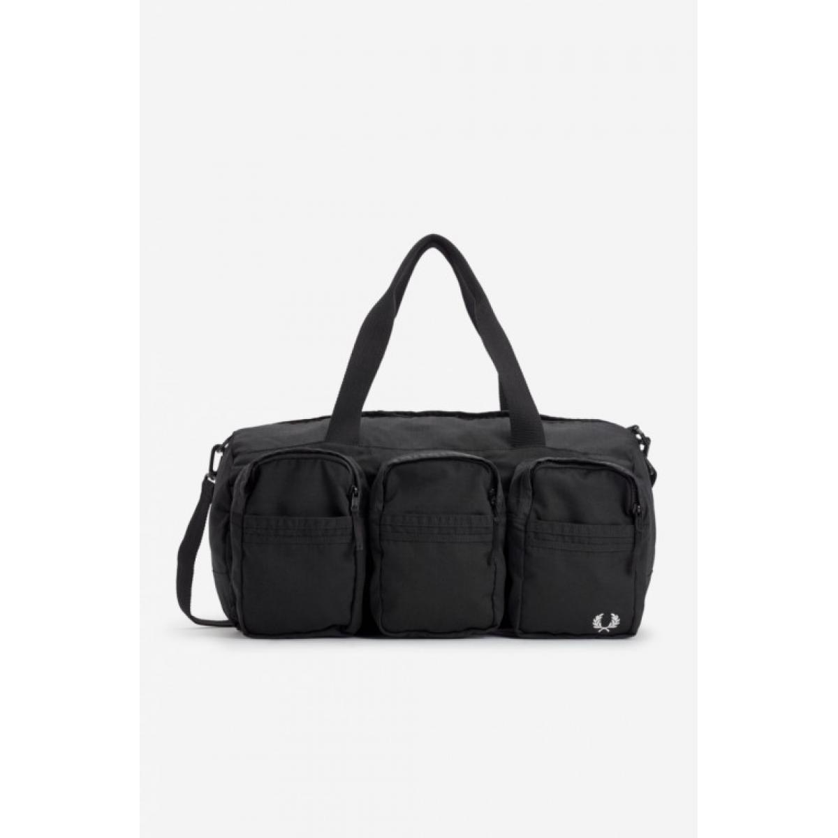 Sac de voyage noir Multipoches - Fred Perry Fred Perry
