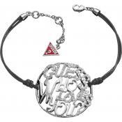 Bracelet Cordon Pampille Strass - Guess - Noir