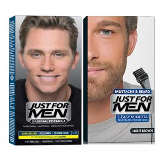 Just For Men - DUO COLORATION CHEVEUX & BARBE Châtain Clair - Coloration just for men