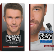 Just For Men Homme - DUO COLORATION CHEVEUX & BARBE Châtain -  - JUST FOR MEN