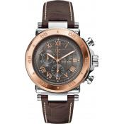 GC (Guess Collection) - Montre GC Chronographe & Dateur Cuir Marron GC-1 Class X90005G2S - Cadeau homme chic