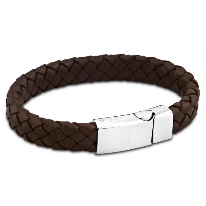 ba2d27ab18cb9 Bracelet Lotus Style LS1380-2-1 - Bracelet Cuir Marron Homme Lotus ...
