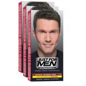 Just For Men - PACK 3 COLORATIONS CHEVEUX - Châtain - Coloration Cheveux/ Barbe HOMME Châtain