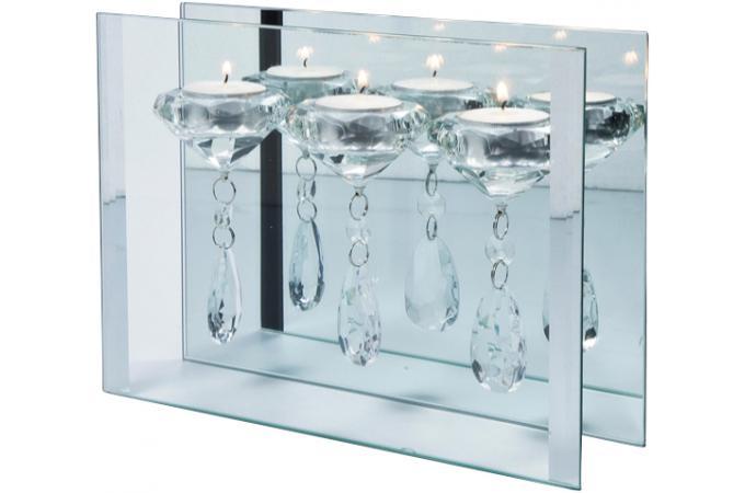 Bougeoir kare design 3 bougies en cristal duba deco - Decoration interieur pas cher en ligne ...