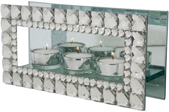bougeoir miroir 3 bougies miranda bougies photophores pas cher. Black Bedroom Furniture Sets. Home Design Ideas