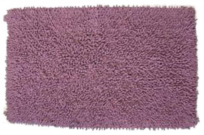 tapis de bain en coton prune jersey salle de bain pas cher. Black Bedroom Furniture Sets. Home Design Ideas