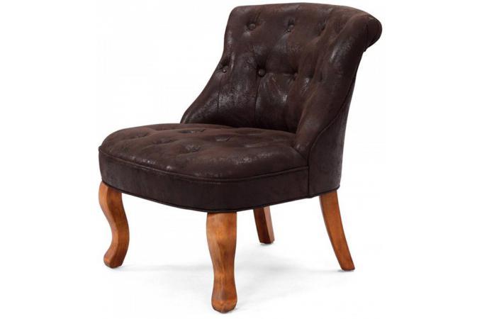fauteuil crapaud vintage marron antoinette fauteuils. Black Bedroom Furniture Sets. Home Design Ideas