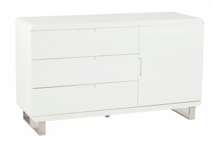 Meuble laqu blanc 3 tiroirs paulo meubles de rangement - Petit meuble blanc laque pas cher ...