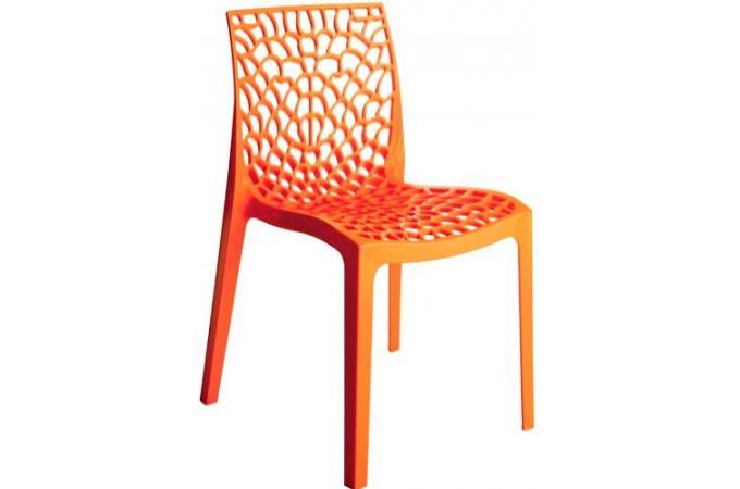 Chaise design orange gruyer opaque chaise design pas cher for Chaise italienne design