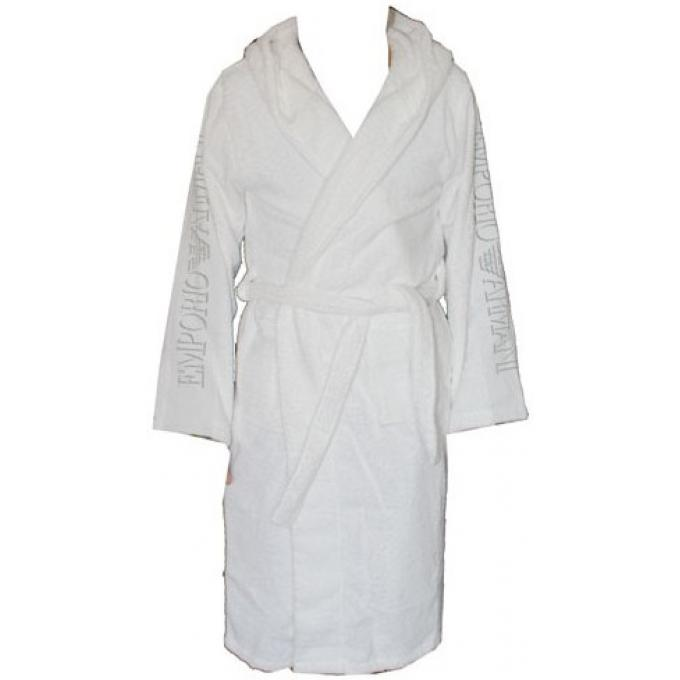 peignoir de bain coton homme homme emporio armani underwear accessoire mode maillot bain homme. Black Bedroom Furniture Sets. Home Design Ideas