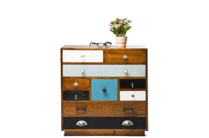 commode en bois kare design 10 tiroirs george commode. Black Bedroom Furniture Sets. Home Design Ideas