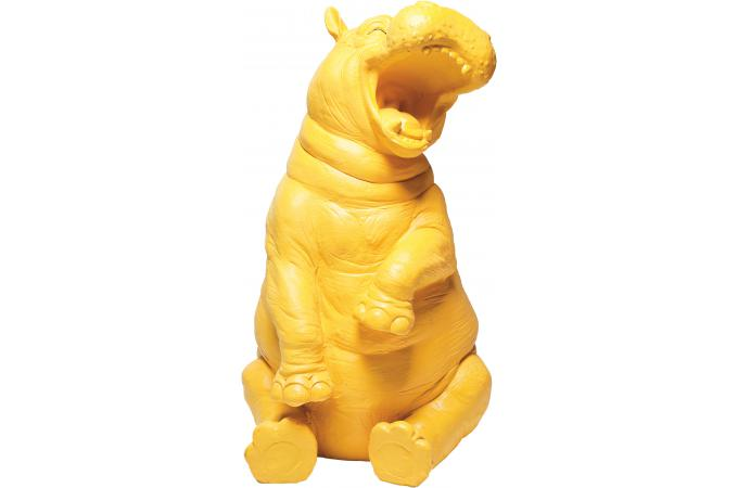 tirelire kare design hippo rigolo jaune tirelire pas cher. Black Bedroom Furniture Sets. Home Design Ideas