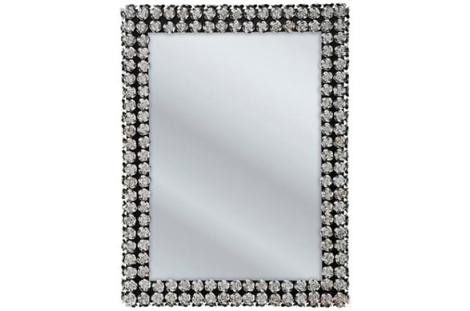 Petit miroir kare design contour roses miroir for Petit miroir rectangulaire