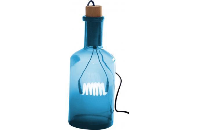lampe en verre bleu bouteille lucie seletti lampe poser pas cher. Black Bedroom Furniture Sets. Home Design Ideas
