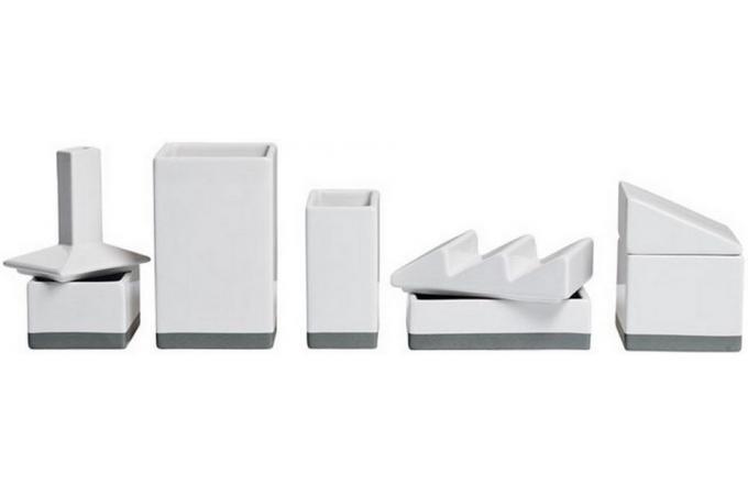Set de rangement pour bureau blanc palm beach seletti for Set de bureau design
