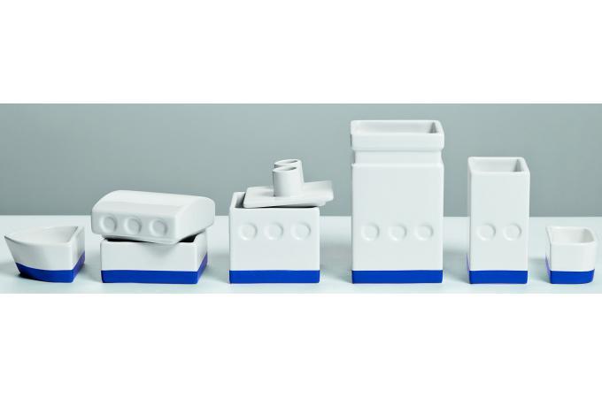 Set de rangement blanc porcelaine bateau seletti for Set de bureau design