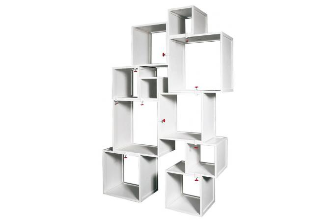 Cubes modulables blancs alfred seletti meuble de rangement pas cher - Meubles cubes modulables ...