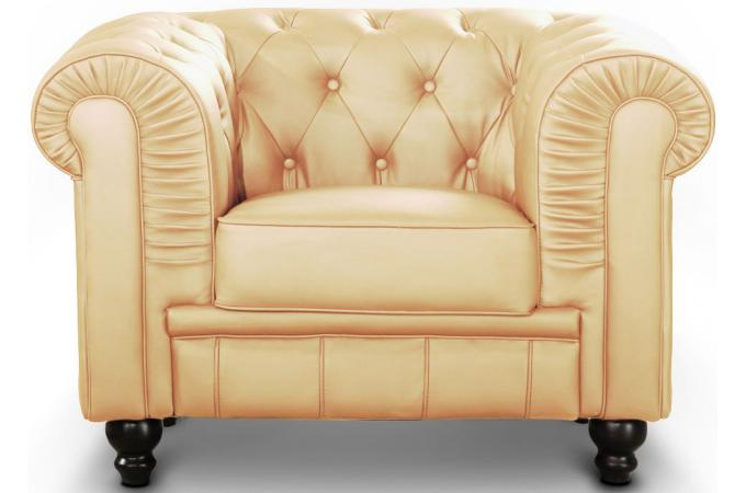 fauteuil chesterfield elton beige fauteuil chesterfield pas cher. Black Bedroom Furniture Sets. Home Design Ideas