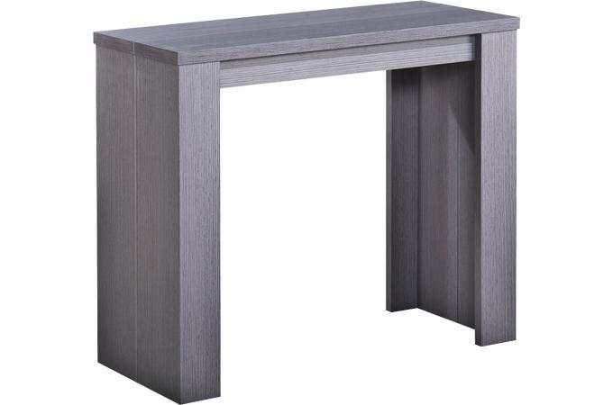 Table console extensible rebecca bois vintage table for Console table extensible pas cher