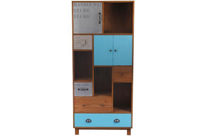 biblioth que bois vintage paul meuble de rangement pas cher. Black Bedroom Furniture Sets. Home Design Ideas