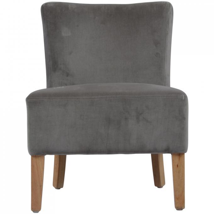 fauteuil gris velours palm springs fauteuil design pas cher. Black Bedroom Furniture Sets. Home Design Ideas