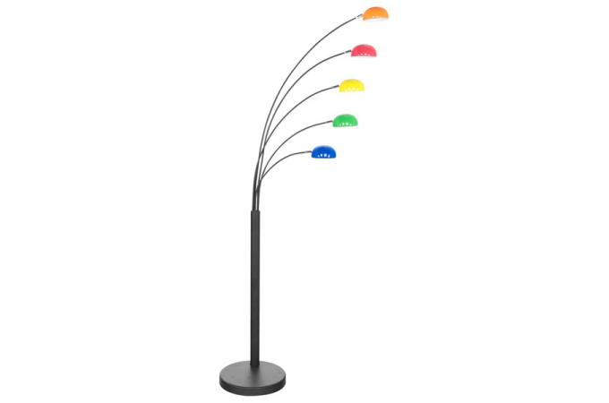 lampadaire 5 branches multicolore vanessa lampadaire pas cher. Black Bedroom Furniture Sets. Home Design Ideas