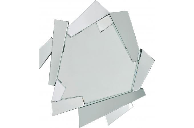 Miroir kare design argent verre wales miroir rond et - Miroir blanc pas cher ...