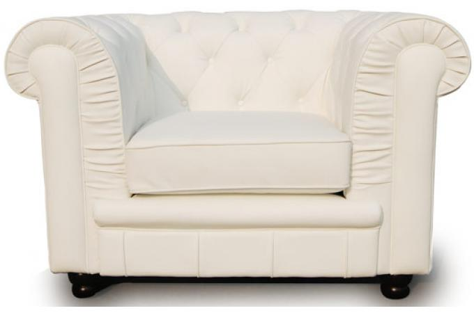 fauteuil chesterfield 1 place blanc james fauteuil chesterfield pas cher. Black Bedroom Furniture Sets. Home Design Ideas