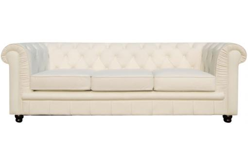 Canap chesterfield 3 places blanc james canap - Canape chesterfield blanc pas cher ...