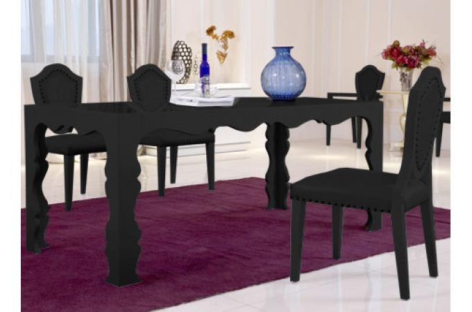 Table manger dino noir 180 table manger pas cher - Table a manger industrielle pas cher ...