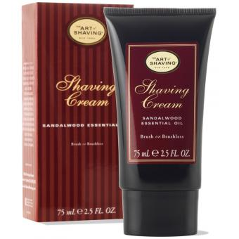 SANDALWOOD SHAVING CREAM TUBE- Hypoallergénique Huiles Essentielles The Art of Shaving