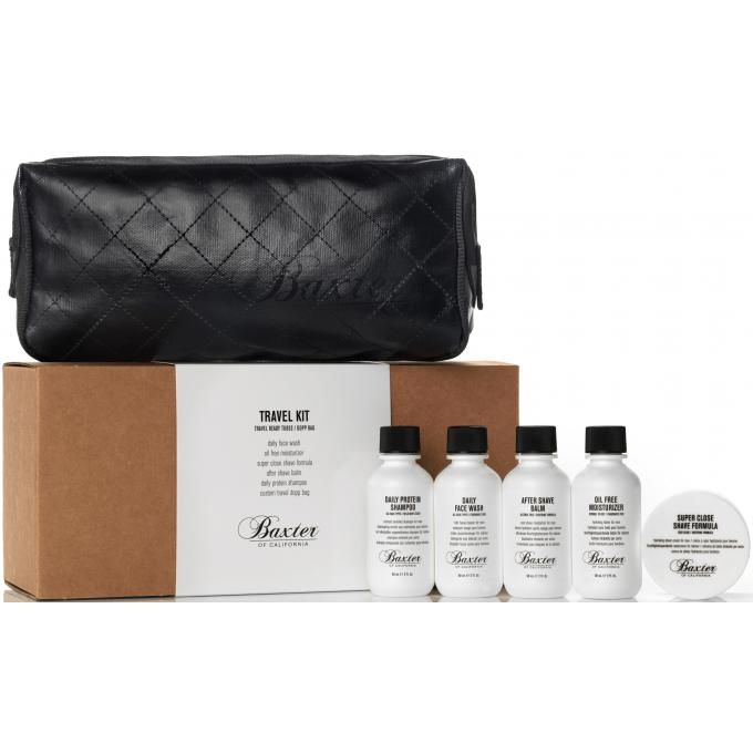 Kit de voyage soin 5 produits trousse baxter of - Kit voyage homme ...