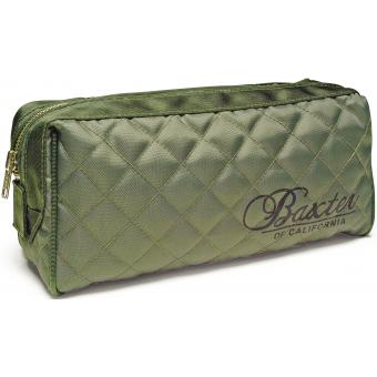 Baxter of California - Trousse de toilette kaki - Tissu Matelassé - Cosmetique baxter of california
